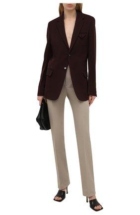 Женские хлопковые брюки BOTTEGA VENETA бежевого цвета, арт. 657740/V0BT0 | Фото 2