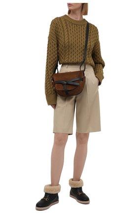 Женские кожаные сапоги GUCCI черного цвета, арт. 645753/17T40   Фото 2