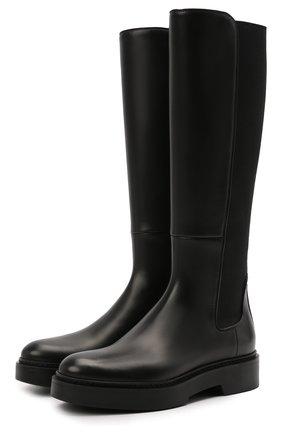 Женские кожаные сапоги SANTONI черного цвета, арт. WSHW59512SM0NU0RN01 | Фото 1