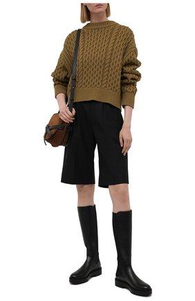 Женские кожаные сапоги SANTONI черного цвета, арт. WSHW59512SM0NU0RN01 | Фото 2