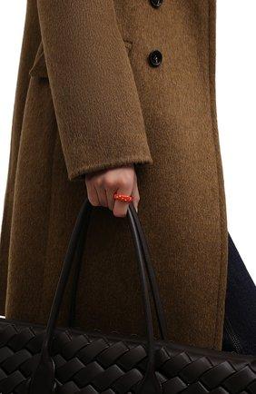 Женское кольцо BOTTEGA VENETA красного цвета, арт. 649527/VB0B8 | Фото 2