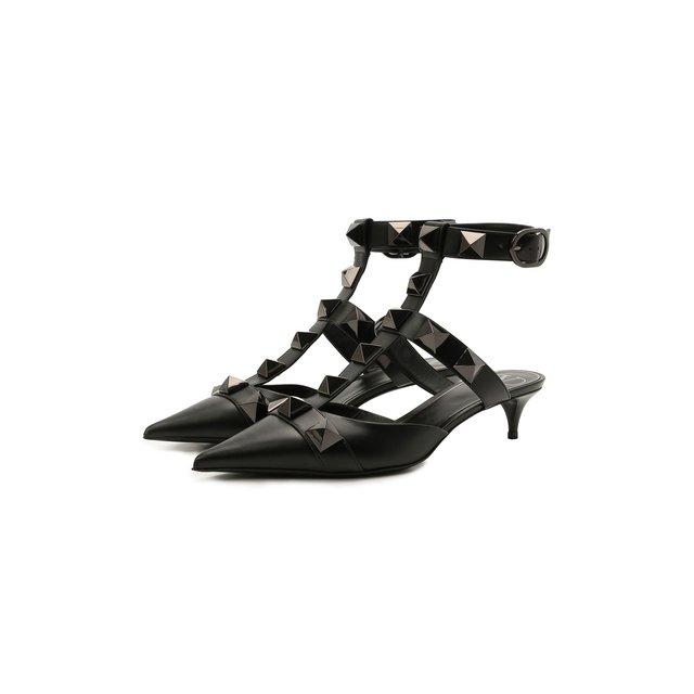 Кожаные туфли Roman Stud Valentino