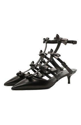 Женские кожаные туфли french bows VALENTINO черного цвета, арт. WW2S0CI3/CCC | Фото 1