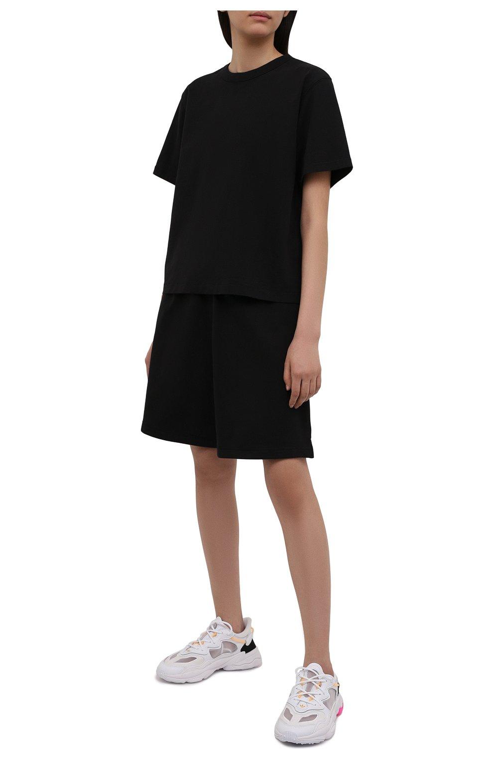 Женская хлопковая футболка HERON PRESTON FOR CALVIN KLEIN черного цвета, арт. K10K108252   Фото 2 (Женское Кросс-КТ: Футболка-спорт; Принт: Без принта; Рукава: Короткие; Длина (для топов): Стандартные; Материал внешний: Хлопок; Стили: Спорт-шик)