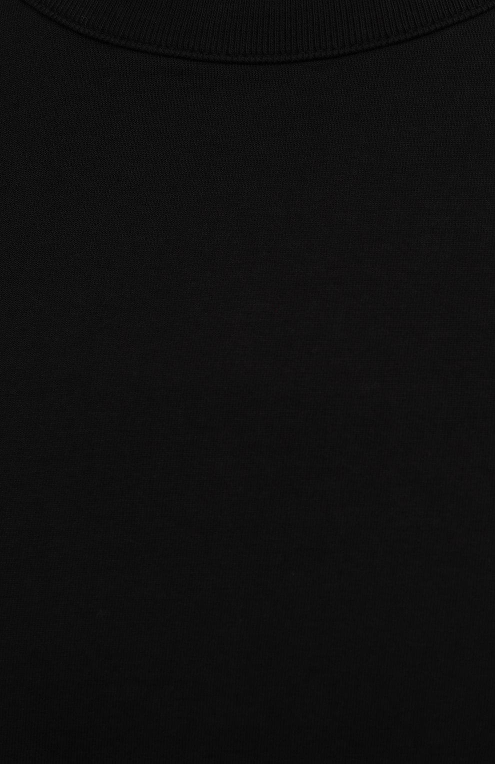 Женская хлопковая футболка HERON PRESTON FOR CALVIN KLEIN черного цвета, арт. K10K108252   Фото 5 (Женское Кросс-КТ: Футболка-спорт; Принт: Без принта; Рукава: Короткие; Длина (для топов): Стандартные; Материал внешний: Хлопок; Стили: Спорт-шик)