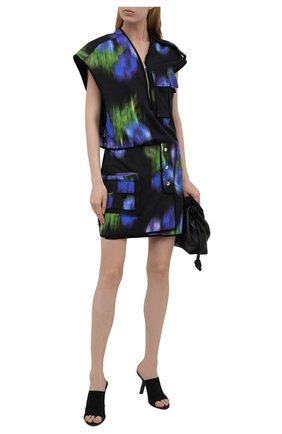 Женское платье из хлопка и льна KENZO разноцветного цвета, арт. FB52R00399L6   Фото 2