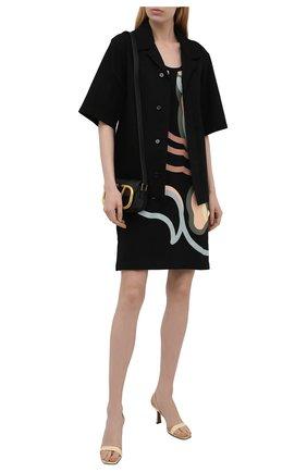 Женское хлопковое платье kenzo x wwf KENZO черного цвета, арт. FB52R07874SB | Фото 2