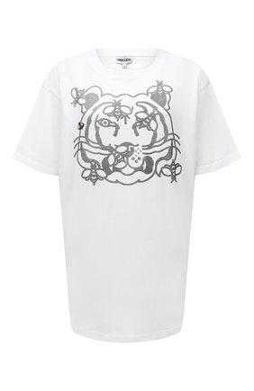 Женская хлопковая футболка KENZO белого цвета, арт. FB52TS9104SA   Фото 1