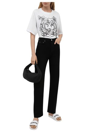 Женская хлопковая футболка KENZO белого цвета, арт. FB52TS9104SA   Фото 2