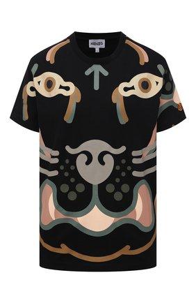 Женская хлопковая футболка kenzo x wwf KENZO черного цвета, арт. FB52TS9444SB | Фото 1