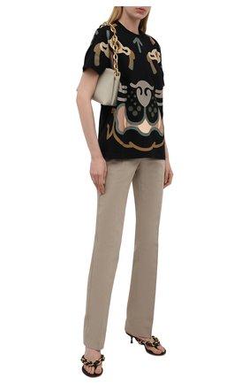 Женская хлопковая футболка kenzo x wwf KENZO черного цвета, арт. FB52TS9444SB | Фото 2
