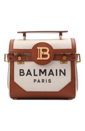 Женская сумка buzz 23 BALMAIN коричневого цвета, арт. WN1DB530/TCFN | Фото 1