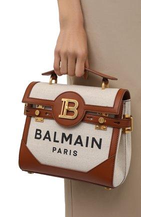 Женская сумка buzz 23 BALMAIN коричневого цвета, арт. WN1DB530/TCFN | Фото 2