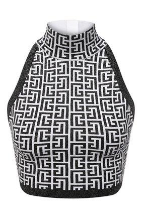 Женский топ BALMAIN черно-белого цвета, арт. WF1AB021/K272 | Фото 1