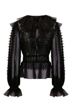 Женская шелковая блузка ZUHAIR MURAD черного цвета, арт. BLS21424/0RSI004 | Фото 1
