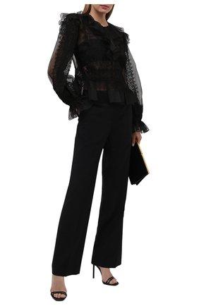 Женская шелковая блузка ZUHAIR MURAD черного цвета, арт. BLS21424/0RSI004 | Фото 2