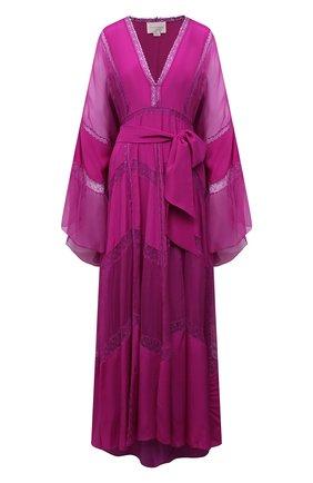 Женское шелковое платье ZUHAIR MURAD фуксия цвета, арт. KAS21326/CRCH013 | Фото 1