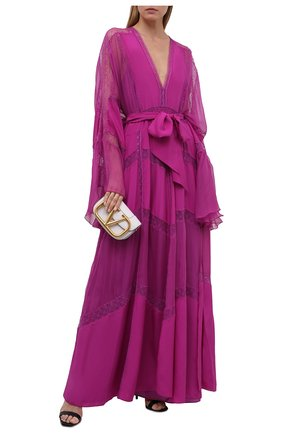 Женское шелковое платье ZUHAIR MURAD фуксия цвета, арт. KAS21326/CRCH013 | Фото 2
