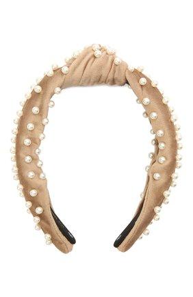 Женский ободок для волос LELE SADOUGHI бежевого цвета, арт. LS031DT | Фото 1