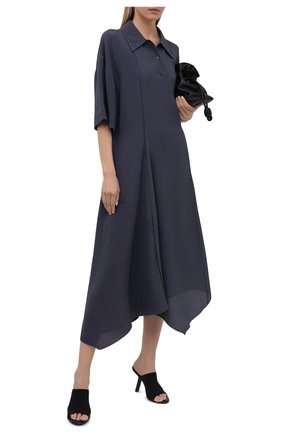 Женское платье из вискозы и шелка ACNE STUDIOS синего цвета, арт. A20282 | Фото 2