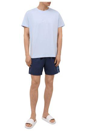 Мужские плавки-шорты BOSS темно-синего цвета, арт. 50437375 | Фото 2
