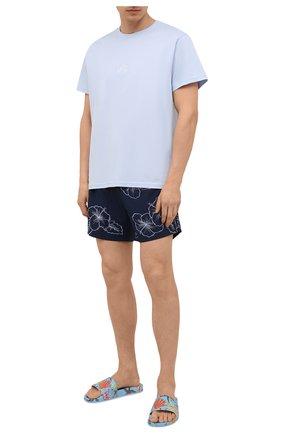 Мужские плавки-шорты BOSS темно-синего цвета, арт. 50426370 | Фото 2