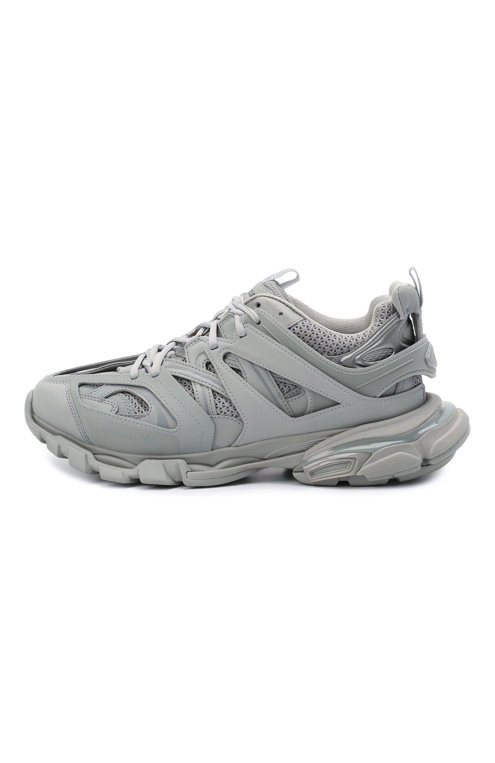 Мужские комбинированные кроссовки track BALENCIAGA серого цвета, арт. 542023/W2LA1   Фото 3 (Материал внешний: Текстиль; Стили: Гранж; Материал внутренний: Текстиль; Подошва: Массивная)