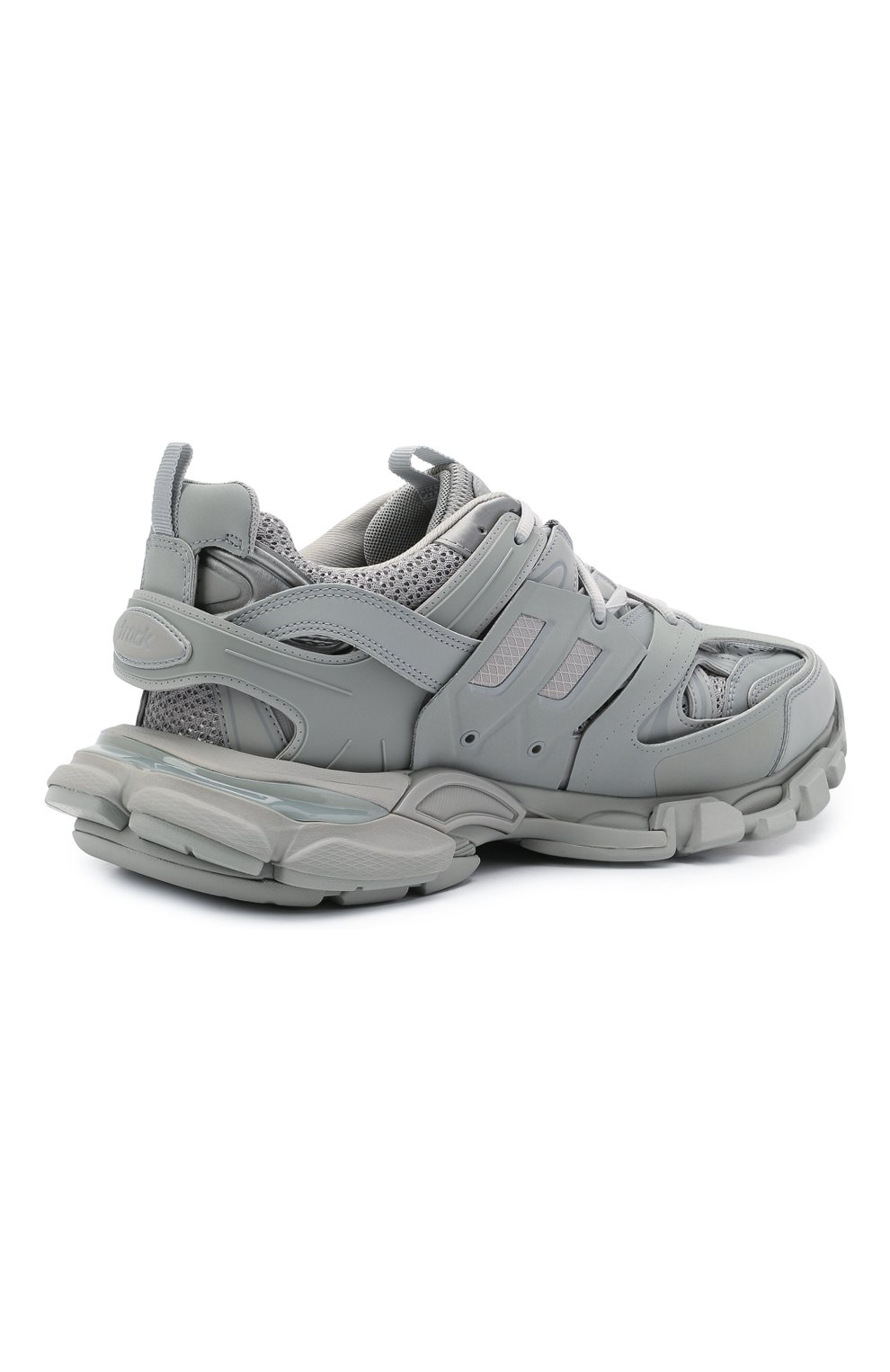 Мужские комбинированные кроссовки track BALENCIAGA серого цвета, арт. 542023/W2LA1   Фото 4 (Материал внешний: Текстиль; Стили: Гранж; Материал внутренний: Текстиль; Подошва: Массивная)
