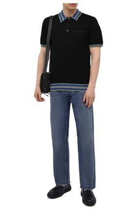 Мужские кожаные кеды SANTONI темно-синего цвета, арт. MBCD215460CARESLU50 | Фото 2