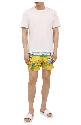 Мужские плавки-шорты MC2 SAINT BARTH разноцветного цвета, арт. STBM GUSTAVIA PLACED PRINT/GUS0009 | Фото 2