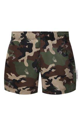 Мужские плавки-шорты OFF-WHITE хаки цвета, арт. 0MFA003S21FAB006 | Фото 1