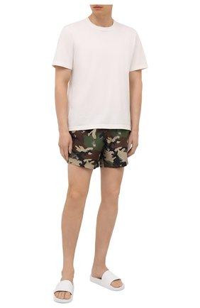 Мужские плавки-шорты OFF-WHITE хаки цвета, арт. 0MFA003S21FAB006 | Фото 2