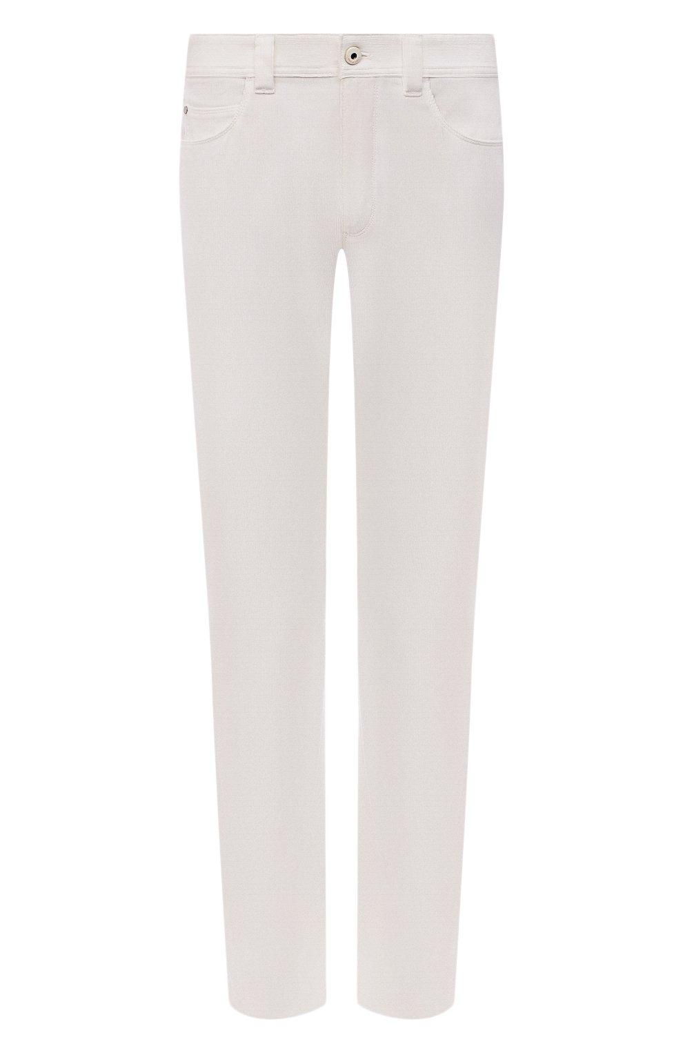 Мужские хлопковые брюки LORO PIANA белого цвета, арт. FAI2480 | Фото 1