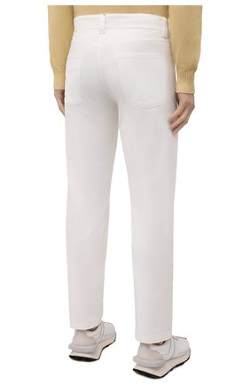 Мужские хлопковые брюки LORO PIANA белого цвета, арт. FAI2480 | Фото 4