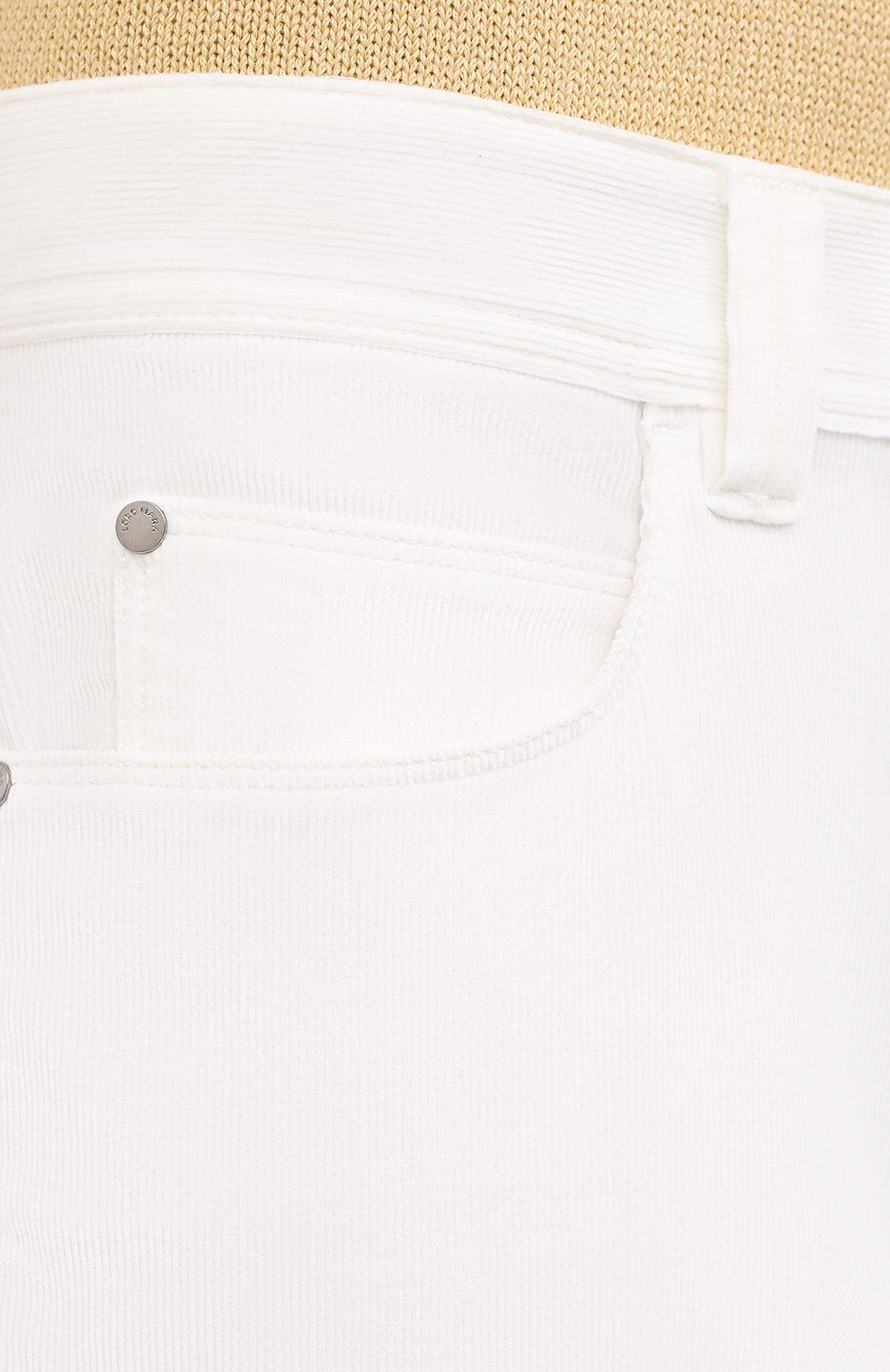 Мужские хлопковые брюки LORO PIANA белого цвета, арт. FAI2480 | Фото 5