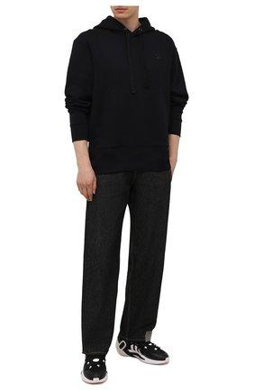 Мужские кроссовки idoso boost Y-3 черного цвета, арт. FZ4524/M   Фото 2 (Подошва: Массивная; Стили: Спорт; Материал внутренний: Натуральная кожа, Текстиль; Материал внешний: Текстиль)