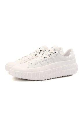 Мужские кожаные кроссовки gr.1p Y-3 белого цвета, арт. GV7679/M | Фото 1 (Материал внутренний: Текстиль, Натуральная кожа; Стили: Спорт; Подошва: Массивная)