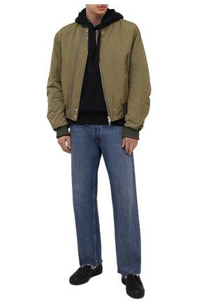 Мужские кожаные кеды forum hi og Y-3 черного цвета, арт. GZ8795/M | Фото 2 (Подошва: Массивная; Материал внутренний: Натуральная кожа)
