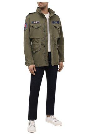 Мужская хлопковая куртка POLO RALPH LAUREN хаки цвета, арт. 710833803 | Фото 2