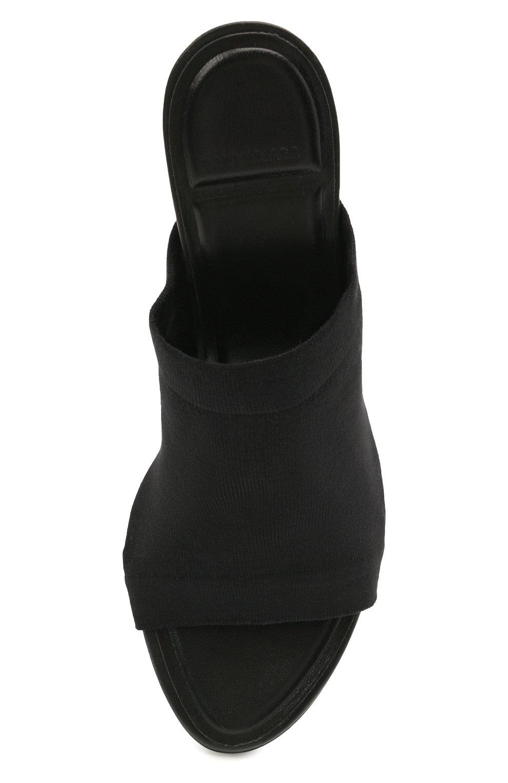 Женские текстильные мюли BALENCIAGA черного цвета, арт. 653276/W2DR0 | Фото 5