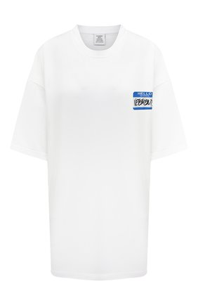 Женская хлопковая футболка VETEMENTS белого цвета, арт. UA52TR330W 1602/W | Фото 1