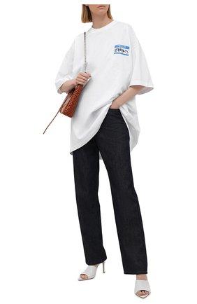 Женская хлопковая футболка VETEMENTS белого цвета, арт. UA52TR330W 1602/W | Фото 2