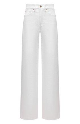 Женские джинсы RALPH LAUREN белого цвета, арт. 290840804 | Фото 1 (Силуэт Ж (брюки и джинсы): Расклешенные; Кросс-КТ: Деним; Стили: Спорт-шик; Длина (брюки, джинсы): Удлиненные; Материал внешний: Хлопок)