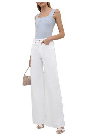 Женские джинсы RALPH LAUREN белого цвета, арт. 290840804 | Фото 2 (Силуэт Ж (брюки и джинсы): Расклешенные; Кросс-КТ: Деним; Стили: Спорт-шик; Длина (брюки, джинсы): Удлиненные; Материал внешний: Хлопок)