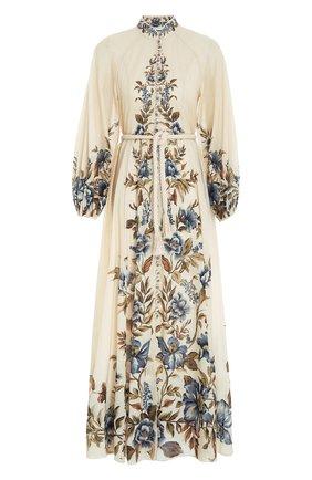Женское льняное платье ZIMMERMANN кремвого цвета, арт. 1536DALI/ | Фото 1