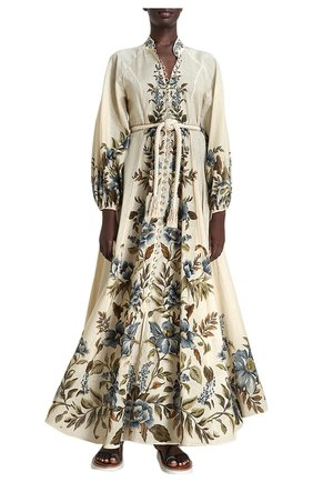 Женское льняное платье ZIMMERMANN кремвого цвета, арт. 1536DALI/ | Фото 2