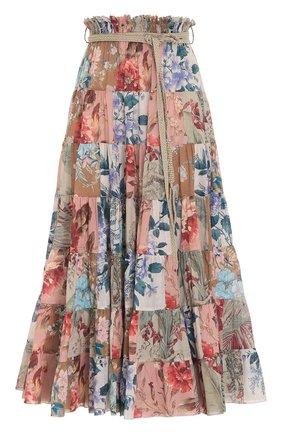 Женская хлопковая юбка ZIMMERMANN разноцветного цвета, арт. 1736SCAS/   Фото 1
