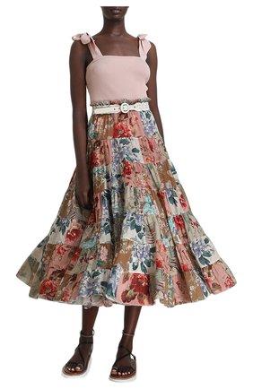 Женская хлопковая юбка ZIMMERMANN разноцветного цвета, арт. 1736SCAS/   Фото 2