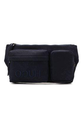 Мужская текстильная поясная сумка HUGO синего цвета, арт. 50455534 | Фото 1