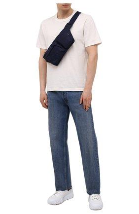 Мужская текстильная поясная сумка HUGO синего цвета, арт. 50455534 | Фото 2
